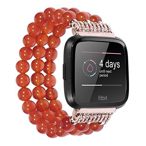 KATUMO - Cinturino di ricambio per Fitbit Versa da donna, colore: Rosso