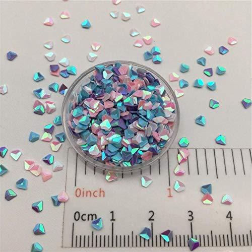 30 g/partij 3 mm 3D Diamond losse pailletten Glitter voor DIY Nail Craft, slijm maken, bruiloft decoratie confetti groothandel, roze wit blauw Pur, 30 g