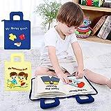 Suppemie Soft-Bilderbuch Stoffbuch Für Babys Spielzeug Pädagogisches Entdeckungsbuch Kid DIY
