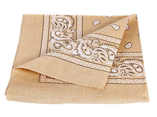 Alsino Bandana Zandana hoofddoek halsdoek paisley patroon 100% katoen