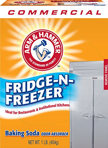 Arm & Hammer 3320084011CT Fridge-N-Freezer Pack Baking Soda, Unscented, Powder, 16 Oz, Pack of 12