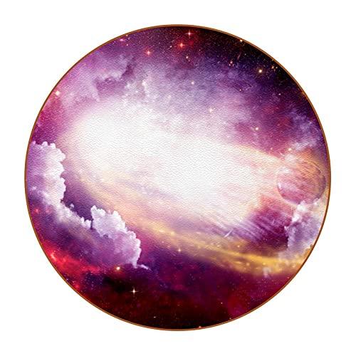Viola Rosa Universo Sottobicchieri Tondo Per Bicchieri - Set Di 6 - Design Coasters Bevande Sottobicchieri di Colore Per Bevande, Tazze, Bar 11cm