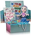 Mermaid Gifts for Girls in a Giant Surprise Box with a Soft Mermaid Doll, a Mermaid Coloring Book with Coloring Markers, a Mermaid Necklace, a Mermaid Crown Headband and More