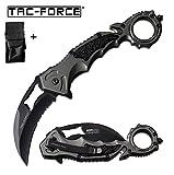 tac-force usa Couteau Camping Trek Pliant karambit Coupe Ceinture Brise vitres + Etui Impermeable