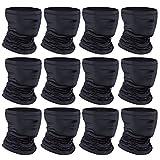 [12-Pack] Neck Gaiter Scarf, Breathable Bandana Face Bandana Cover Cooling Neck Gaiter for Men Women...