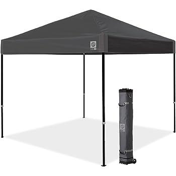 E-Z UP Inc. AMB3SBKF10SG Ambassador Instant Canopy Shelter Tent, 10' x 10', Steel Gray