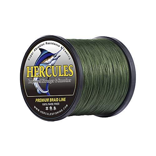 ヘラクレス(HERCULES) PEライン 釣りライン 4本編み 色落ちない 遠投釣り糸 真円近似 PE糸 充実なタイプ 高強度 高感度 高比重 PEライン-グリーン 100M 0.2号 (2.7kg/6lb 0.08mm)
