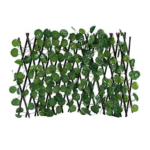 Künstliche Hecke Künstliche Pflanzenwand - Artificial Garden Plant Zaun Privatsphäre Gartenzaun Künstliche Hecke Retractable Fence Expanding Durable Holzgitter Pflanze Sichtschutz Für Garten (B)