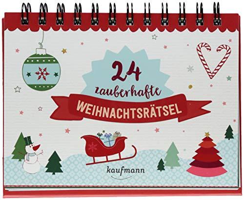 24 zauberhafte Weihnachtsrätsel (Adventskalender für Erwachsene - Aufstell-Buch mit Rätseln)
