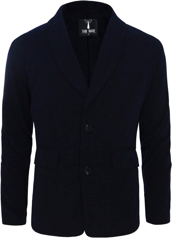 TAM WARE Men's Casual Slim Fit Single Breasted Two Button Blazer