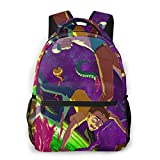 NiYoung Back to School Gift - Camping Outdoor Backpack Casual Daypack Climbing Shoulder Bag Big Capacity Daypack Psychedelic Cartoon Rick-and-Morty Art School Daypack Backpack for Man/Women/Girls