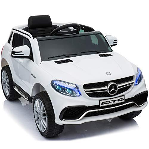 完成車で発送 乗用ラジコン 新型 BENZ GLE63S AMG ベンツ 品 ペダルとプロポで操作可能 電動ラジコンカー 乗用玩具 ラジコンカー 電動乗用玩具 [TR1701RC] (ホワイト)