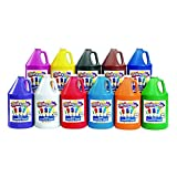 Colorations Tempera Paint, Gallon Size, Set of 11 Colors, Non Toxic, Vibrant, Bold, Kids Paint, Craft, Hobby, Fun, Art Supplies (Item # STGAL)