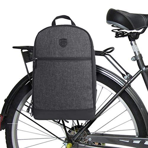 Tourbon Nylon Clip-on fietstas rugzak fiets laptoptas - zwart