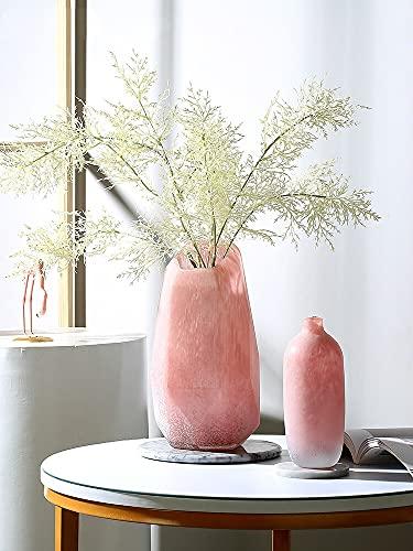 PPuujia Planta terrario nórdico moderno rosa geométrico mármol jarrón de vidrio arreglo floral sala de estar Florero jarrón de vidrio terrario recipientes de vidrio (Color: Blanco)