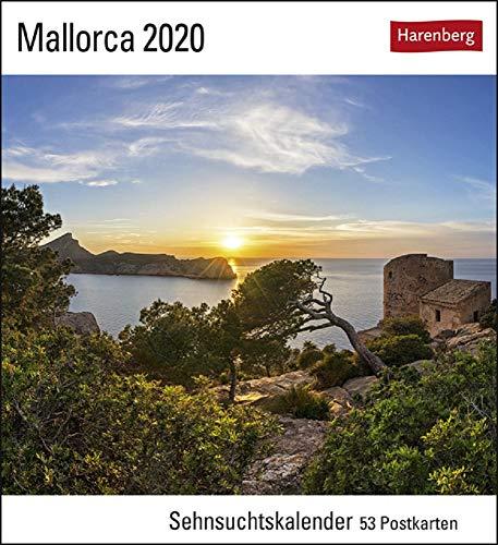 Sehnsuchtskalender Mallorca - Kalender 2020 - Harenberg-Verlag - Postkartenkalender mit 53 heraustrennbaren Postkarten - 16 cm x 17,5 cm