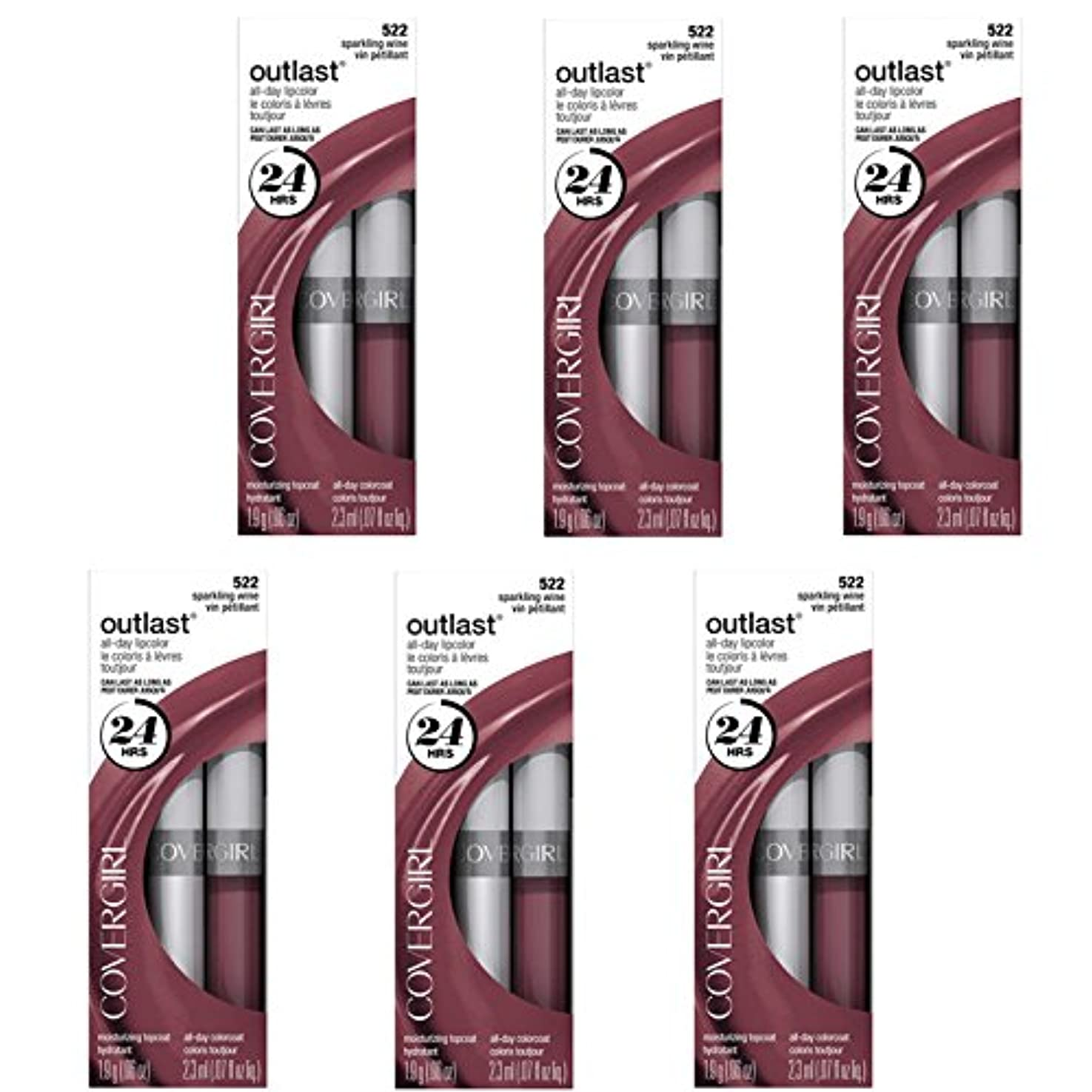 ビーチリレー食事を調理するCOVERGIRL Outlast All-Day Moisturizing Lip Color 522 Sparkling Wine, 6/set, Discontinued [並行輸入品]