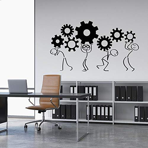 yaonuli Cartoon Karoon Gang Muurtattoo Office Decoratie Teamwerk Sticker Creative Decoratie Wand succes Muursticker slaapkamer