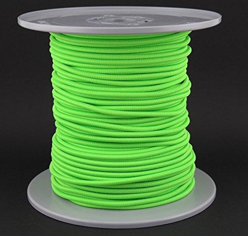 Corde élastique Gepolight® - 100 m de diamètre - 5 mm de diamètre - Vert fluo (brille sous la lumière noire)