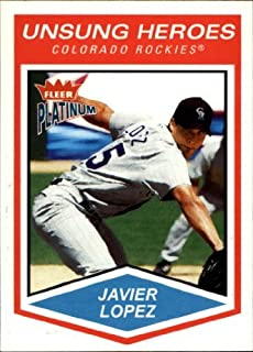 2004 Fleer Platinum #164 Javier Lopez UH MLB Baseball Trading Card