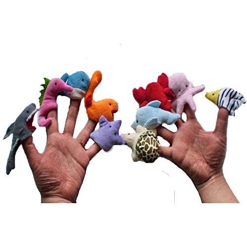 PEGONE 10 Finger verbunden, Geschichten erzählen, gutes Spielzeug, Handpuppen als Geschenk für Babys