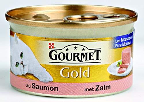 Gourmet gold fijne mousse zalm kattenvoer 85 GR