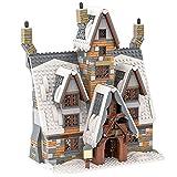 Rawikan Movie Bar House Moc Broom Hotel Winter Village City Building Block Juguete para niños (compatible con Lego)