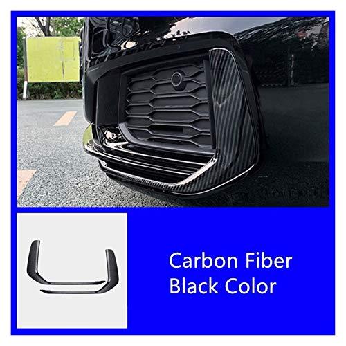 XCVUISDFJK Autoteilecar-Zubehör und Formteile ABS-Kohlenstofffaser-Front-Bumper-Nebel-Lichtrahmen-Trimm-Fit für Audi A6 C8 2019-2020 Nebelscheinwerfer deckt dekoratives Zubehör ab