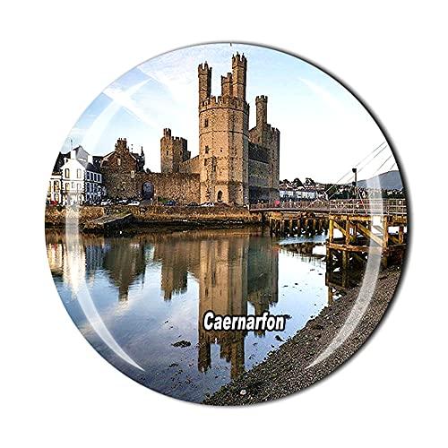 Caernarfon Gales - Imán para refrigerador, regalo de viaje con cristal 3D para decoración del hogar y la cocina