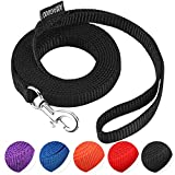 """EXTRA CAT LEASH:Small leash lead length: 6FT, 3/8"""" in wide .The dog leash is very strong and durable,suitable for cat. EASY TO USE: The easy on, easy off hook makes securing the small leash to your pet's collar or harness effortless LIGHTWEIGHT AND N..."""