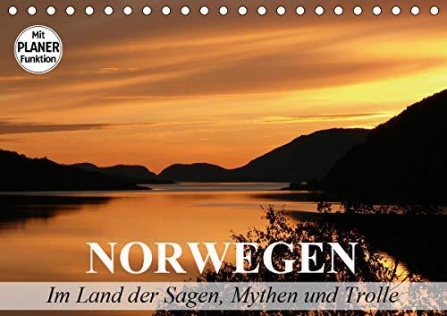 Norwegen. Im Land der Sagen, Mythen und Trolle (Tischkalender 2021 DIN A5 quer)