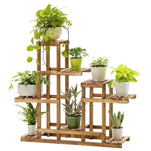 HJ Fleur rack usine stand en bois Bibliothèque polyvalent Utilitaire Support de rangement Bonsai affichage étagère d'intérieur Jardin extérieur Jardin Patio Balcon Chambre Salle de bain étagère W/cr