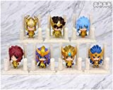 brandless Saint Seiya Figure Saint Seiya Golden Zodiac Figure Anime Chibi Figure Action Figure 3 / Style Anime Figure Anime Figurine