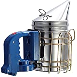 LAMEI Bee Hive Smoker-Electric Stainless Steel Heavy Duty Smoker with Guard