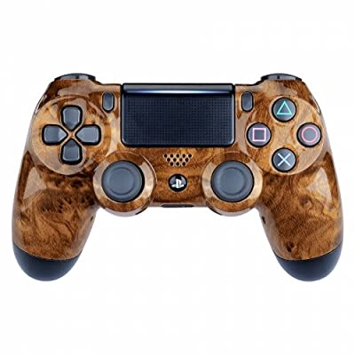 Hard Wooden Custom PS4 Rapid Fire Custom Modded Controller 40 Mods for All Major Shooter Games, BO4 & More
