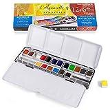 Sennelier - L'Aquarelle Watercolor Paint Set (18 Half Pans) with Sturdy...