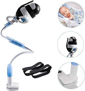 Soporte universal para monitor de bebé cámara flexible de aleación de aluminio Soporte de cámara para guardería Soporte universal compatible con el teléfono y la mayoría de los monitores para bebés