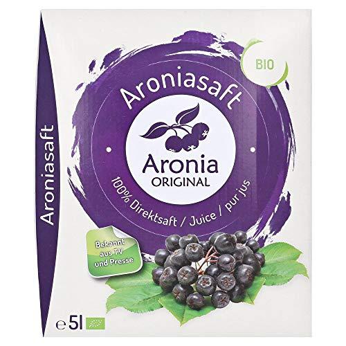 Aronia Original Bio Aroniasaft 100{c030edc4a08836c31217ea5304bd484336bf0e195f838a1c819927e093cbece7} Direktsaft, 1er Pack (1 x 5 l)