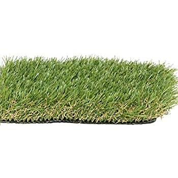 Zen Garden PZG Premium Artificial Grass Patch w/Drainage Holes & Rubber Backing   4-Tone Realistic Synthetic Grass Mat   1.6-inch Blade Height