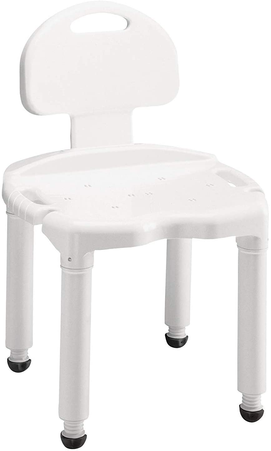 Carex Bath Seat And Shower Chair With Back For Seniors, Elderly,