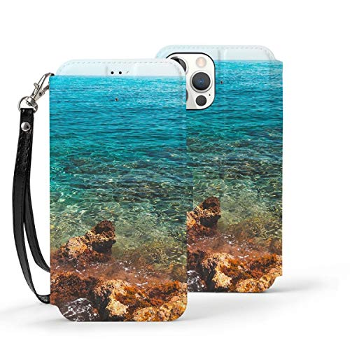 Can be Installed i-Phone 12 Tempered Glass Phone case / 12 Pro / 12 Mini/max Shockproof Soft case Cool View of sea