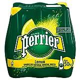 Perrier - Limón - Agua mineral carbonatada - 500 ml - Juego de 6 botellas - Agua mineral elegante,...