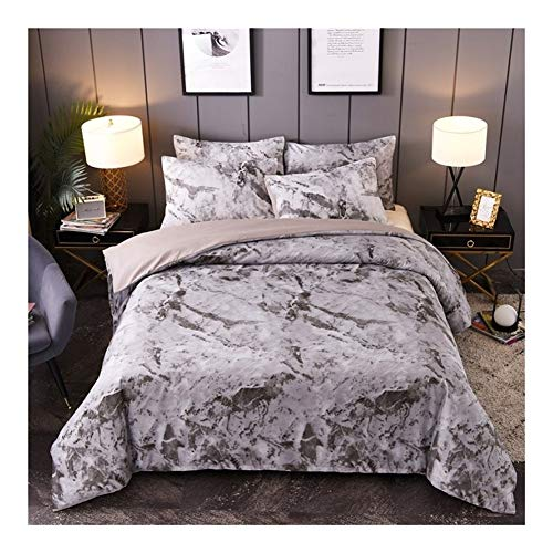 Black Marble Pattern Bedding Sets Duvet Cover Set 2/3pcs Bed Set Single Double Queen King Size White Quilt Cover No Filling (Color : 06, Size : Twin 2pcs)