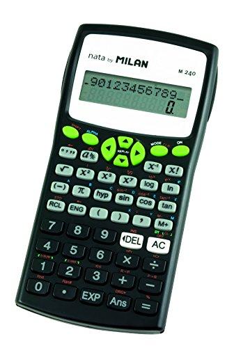 Milan 159110GRBL - Calculadora científica, 240 funciones, color verde