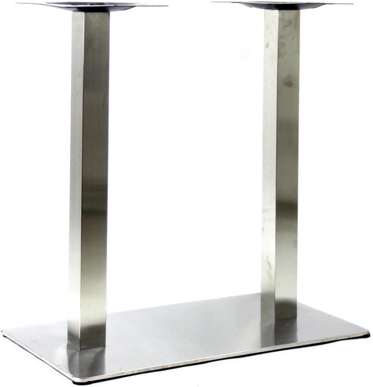 Tischgestell, Tischfu doppel, Edelstahl Gestell, rechteckiger Fu, 72 cm - Frankfurt