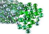 Piedras decorativas, piedras preciosas perlas, Guirnalda Decorativa de Cristal, Piedras Redondeadas Preciosas, Piedras y Minerales Por ARSUK (100 unids/500 grams Guijarros verdes)