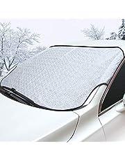 カーフロントカバー 車フロントガラスカバー 雪対策 凍結防止 雪 氷 霜よけ 落葉対策 撥水加工 厚手 防水材料 車サンシェード SUV車/普通車に適用