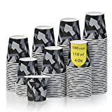 140 Vasos Carton Desechables para Café Espresso Camo 110 ml para Café para Llevar