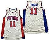 XIETARPAULIN Isiah Thomas 11# Jerseys, Detroit Pistons Pistons Ropa de Baloncesto para Hombre Fresco Tela Transpirable Swingman Vestido sin Mangas Top Ropa (Size : S)