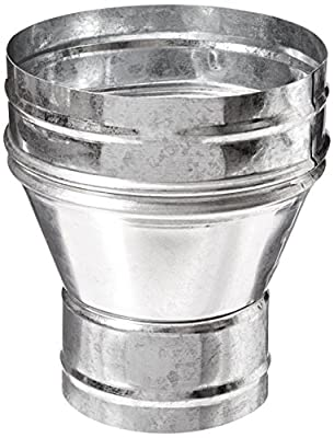 Hydrofarm ACR0604 Air Conditioning Duct Reducer, 6 by 4-Inch, Silver